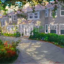 "American Legacy Fine Arts presents ""The Baker's Home"" a painting by Peter Adams."