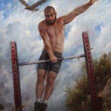 "American Legacy Fine Arts presents ""Where Eagles Dare, Portrait of Goga"" a painting by Nikita Budkov."