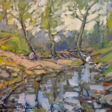 "American Legacy Fine Arts presents ""Arroyo Hondo Creek"" a painting by Karl Dempwolf."